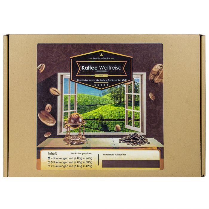 Kaffee Weltreise Geschenkbox