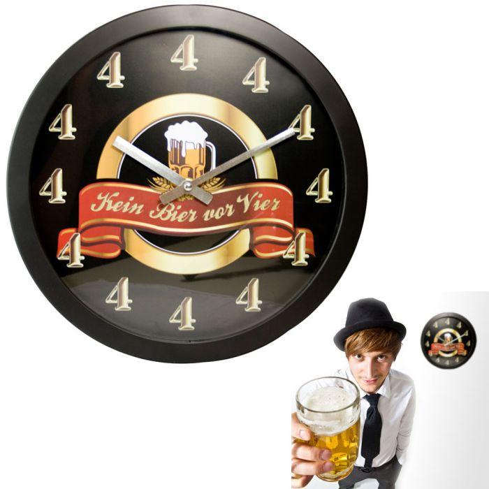 Kein Bier Vor Vier Wanduhr