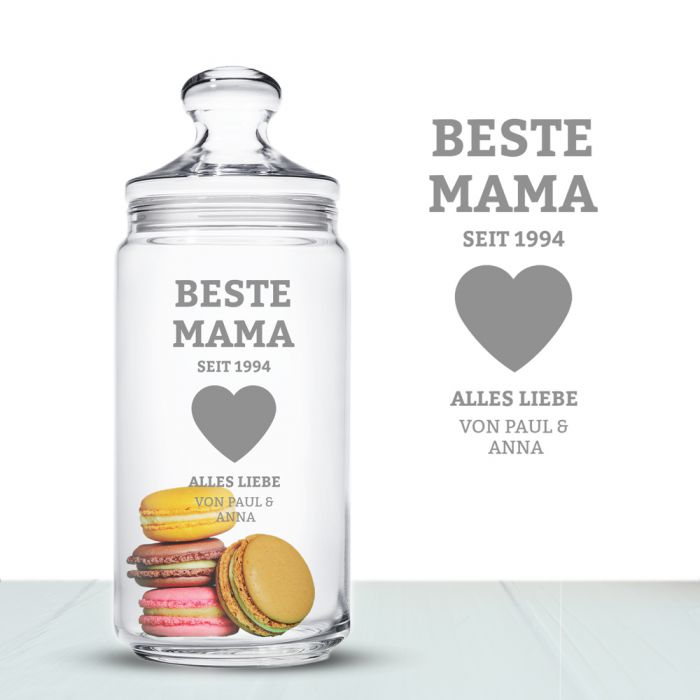 Keksdose mit Gravur - Beste Mama