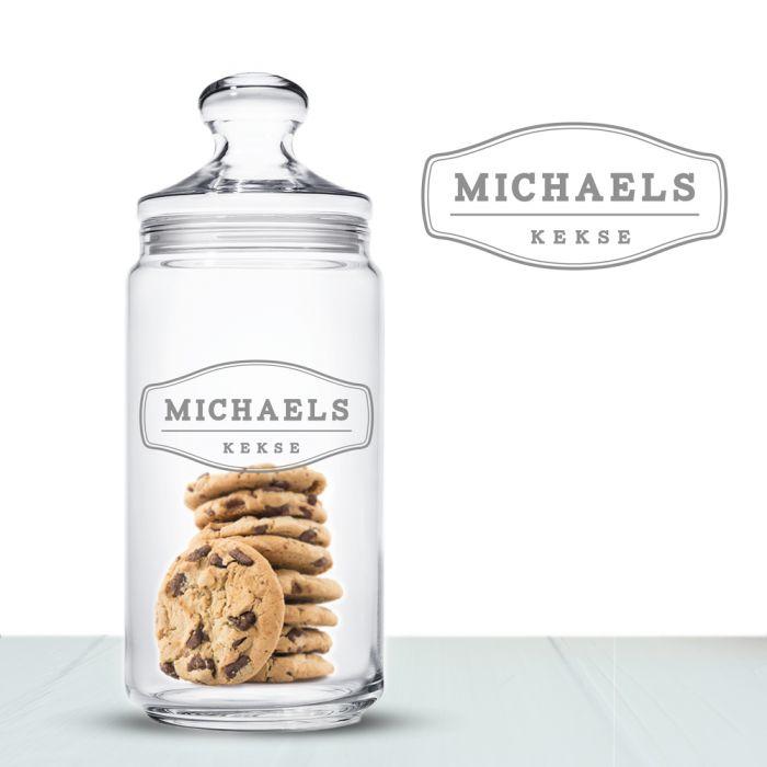 Boîte à biscuits avec gravure - Hommes