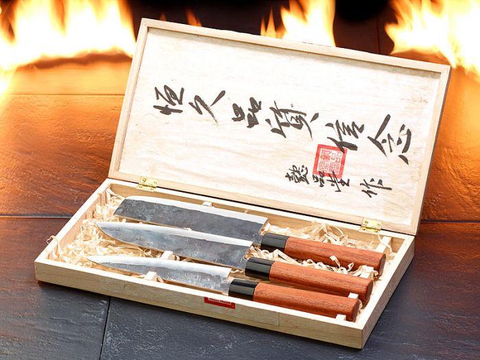 Set de couteaux de cuisine forgés à la main