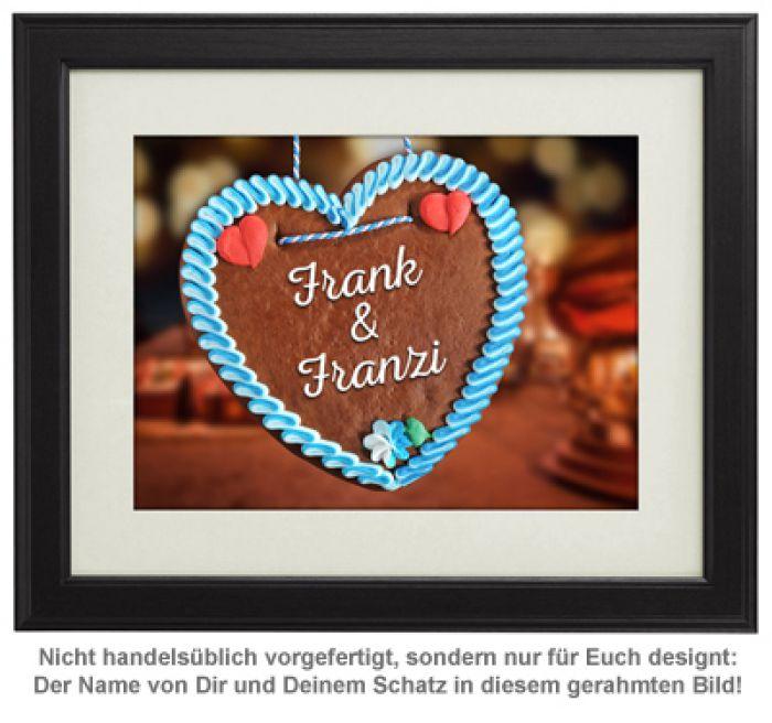 Lebkuchenherz - personalisiertes Bild