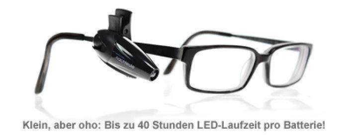 LED Leselampe für die Brille