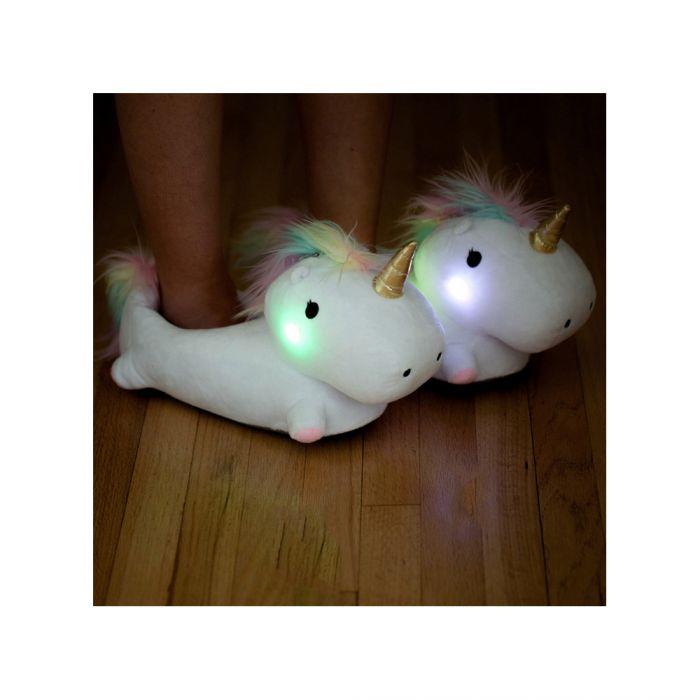 Leuchtende Einhorn Hausschuhe