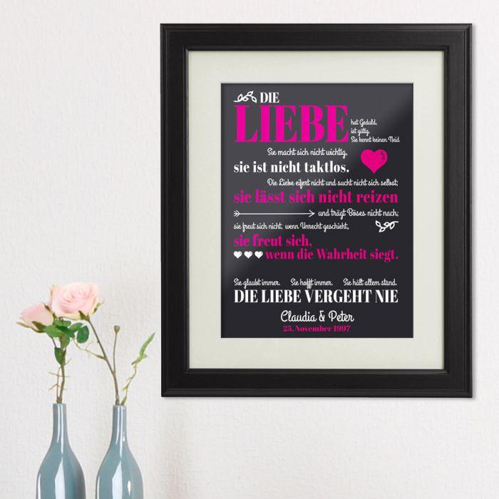 Liebe vergeht nie - personalisiertes Bild