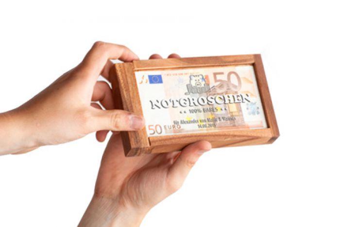 Magische Geldgeschenkbox - Notgroschen
