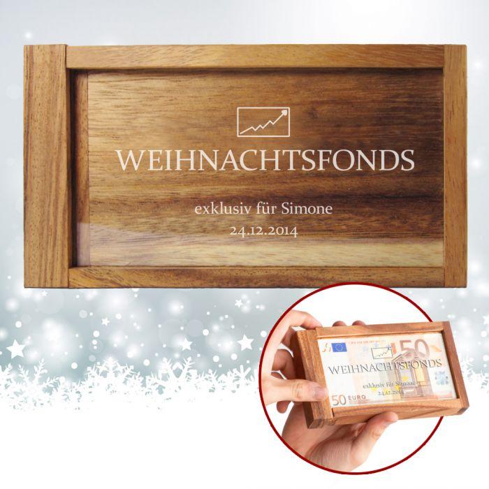 Magische Geldgeschenkbox - Weihnachtsfonds