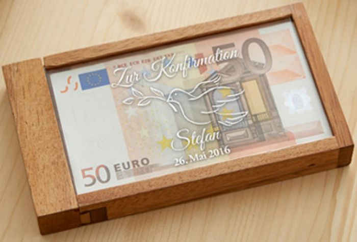 Magische Geldgeschenkbox Zur Konfirmation Witziges Knobelgeschenk