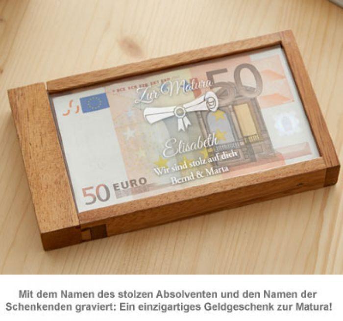 Magische Geldgeschenkbox zur Matura
