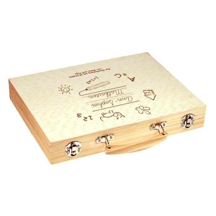 Malkasten Set mit Holzkoffer zur Einschulung