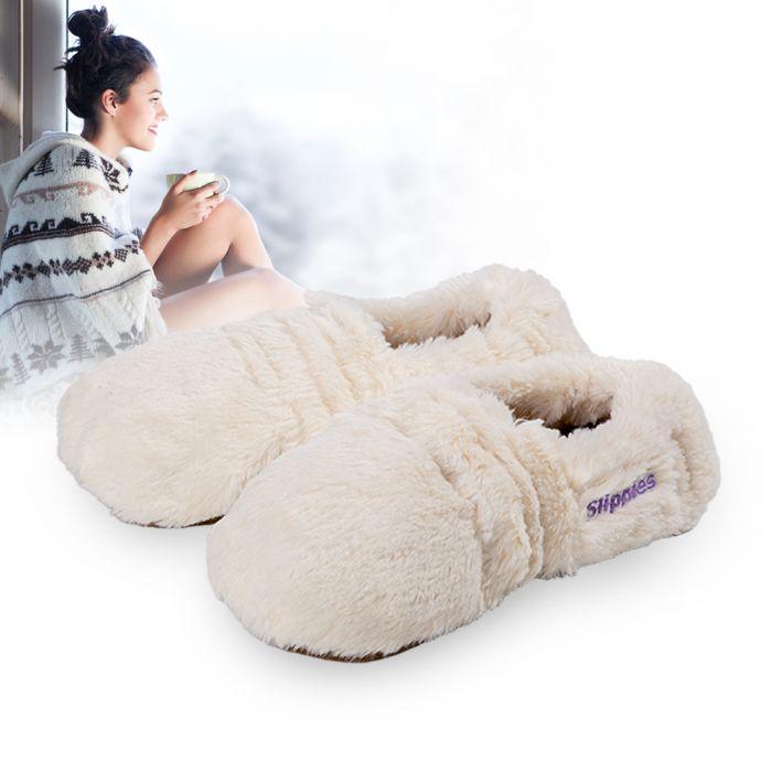Pantoufles micro-onde à la lavande