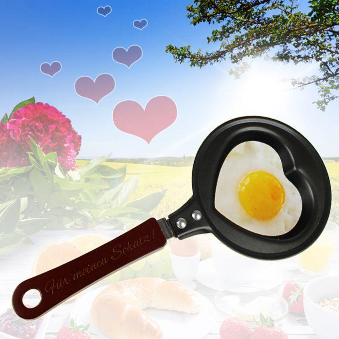 Mini poêle en forme de cœur