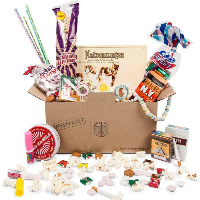 Original BRD Süßigkeiten Box - 14-teiliges Westpaket zum Naschen