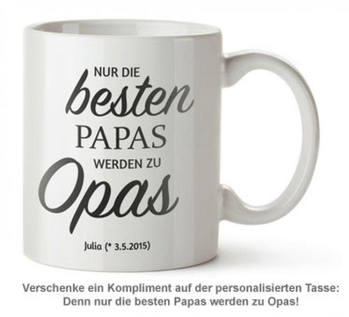 Personalisierte Tasse - Beförderung zum Opa