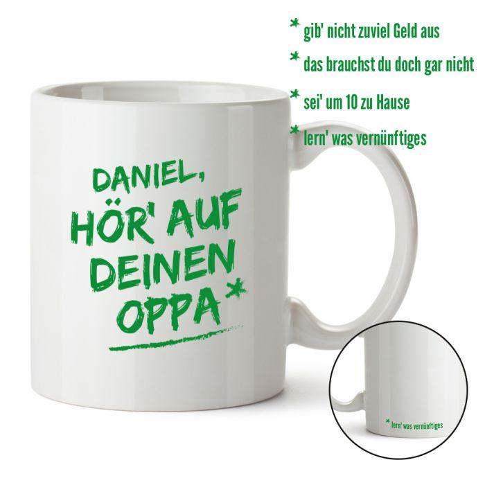 Personalisierte Tasse - Hör auf Deinen Oppa