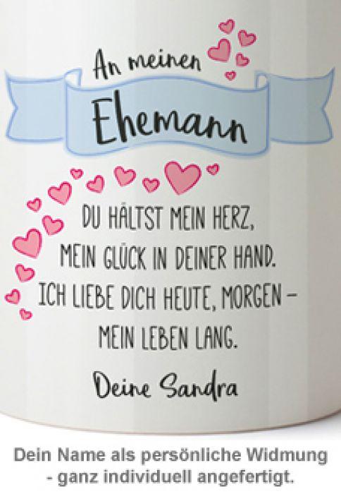 Personalisierte Tasse - Liebesgedicht Ehemann mit Widmung