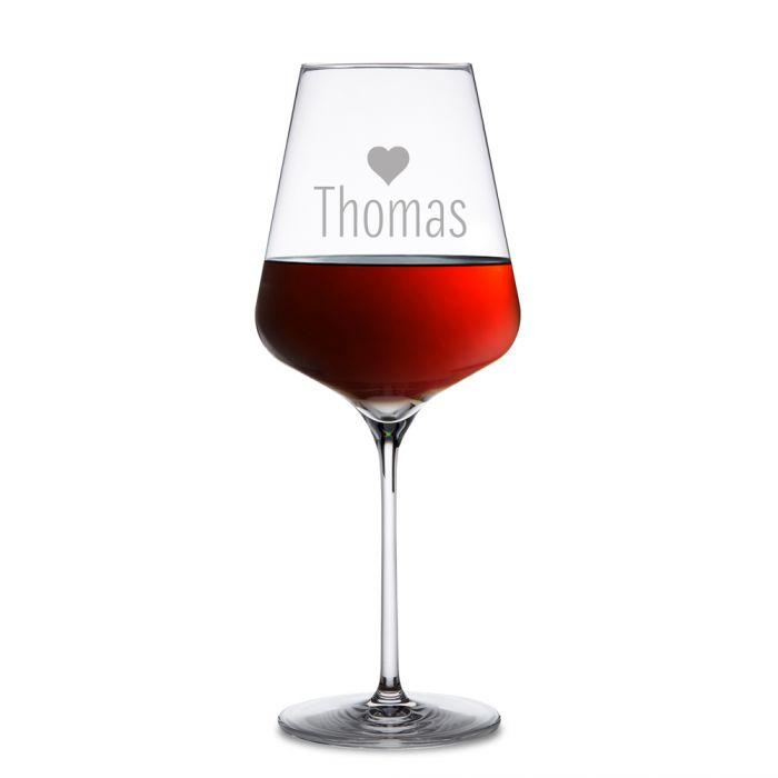 Personalisierte Weingläser Herz - 2er Set