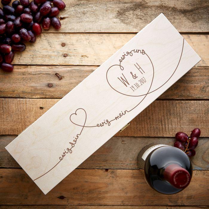 Personalisierte Weinkiste - Ewig Dein