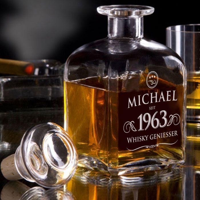 Personalisierte Whisky Karaffe - Elegant