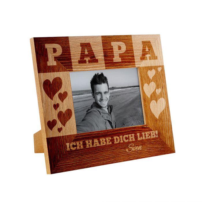 Personalisierter Bilderrahmen für Papa