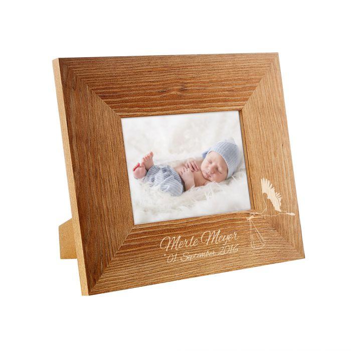 Personalisierter Bilderrahmen zur Geburt