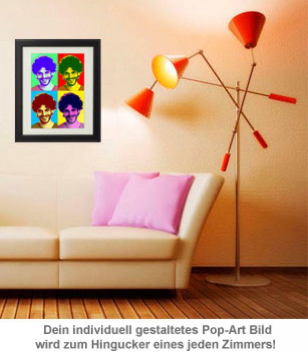 Personalisiertes Pop-Art Bild - Portrait