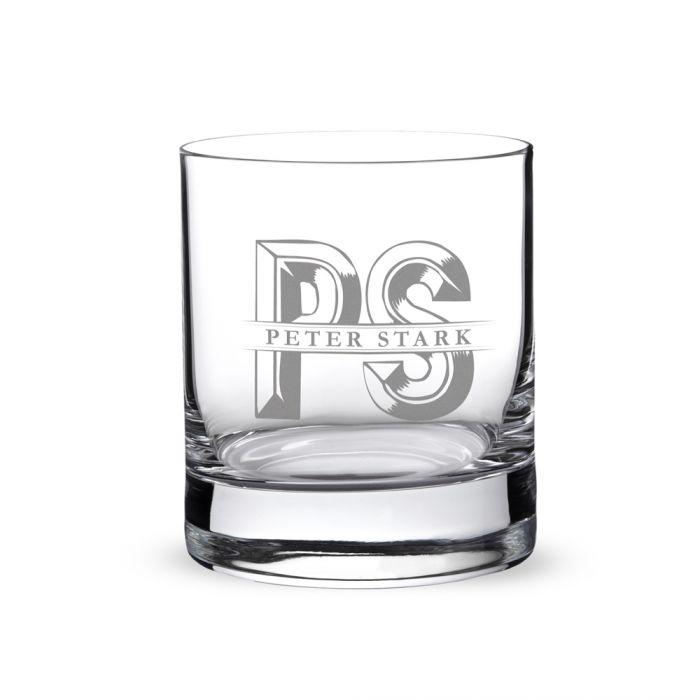 Personalisiertes Whiskyglas - Initialen