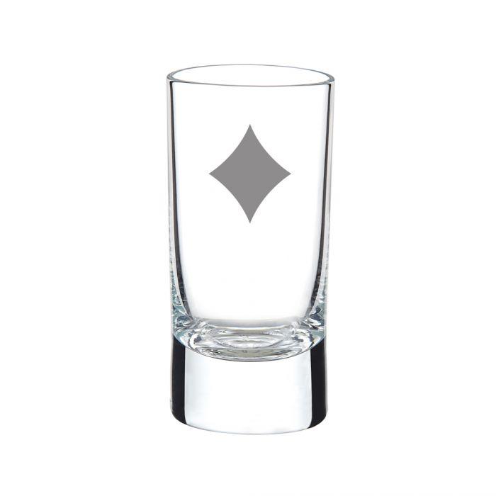 Poker Schnapsgläser - Spielkarten Motiv