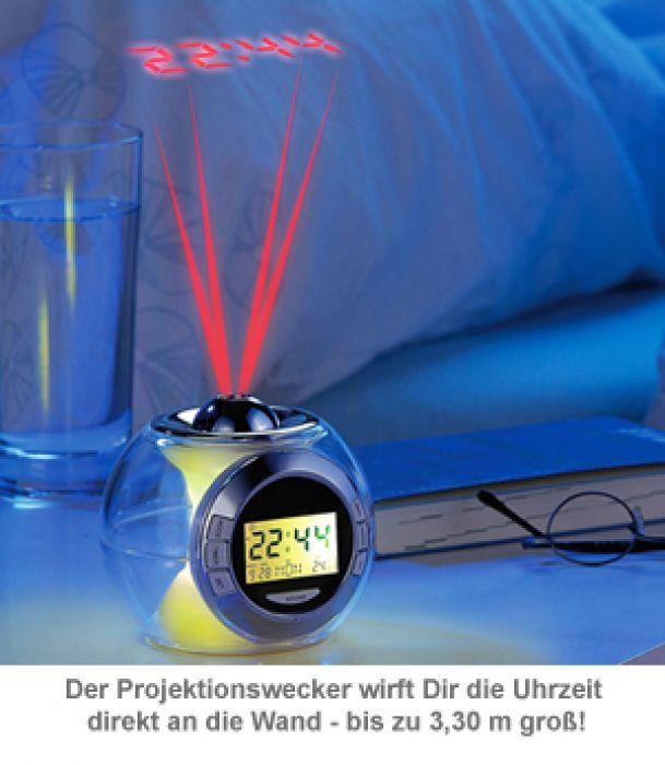 Projektionswecker mit Naturklängen - Space Kugel