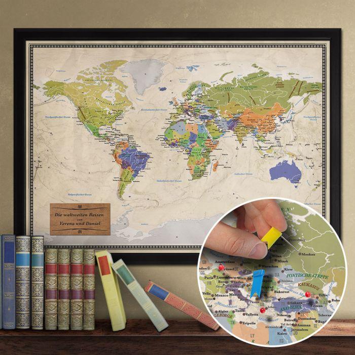 Reise-Weltkarte Deluxe