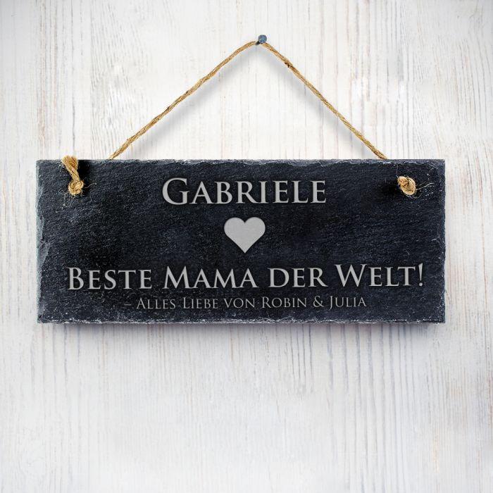 Schiefertafel mit Gravur - Beste Mama