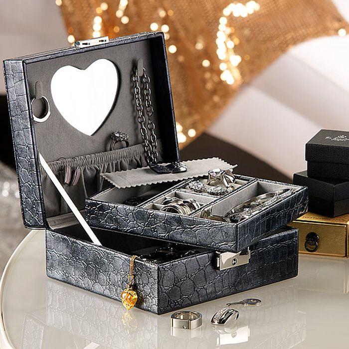 Boîte à bijoux imitation cuir