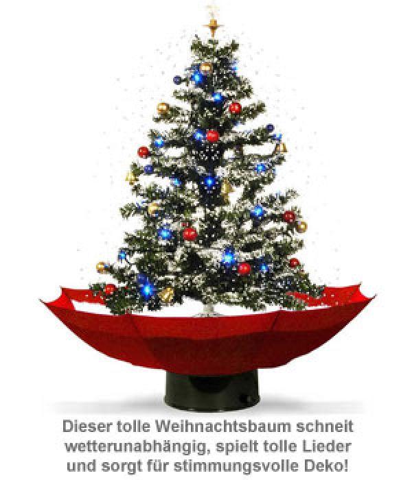Schneiender Weihnachtsbaum mit Weihnachtsliedern