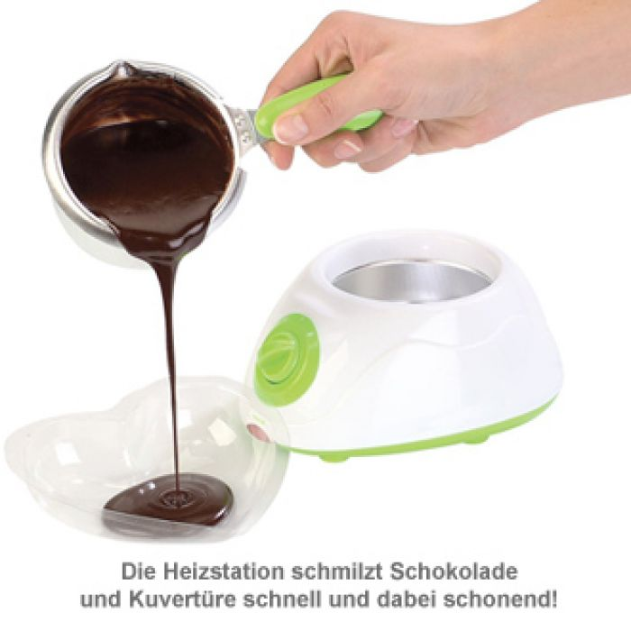 Schokolade schmelzen - Schokofondue Set