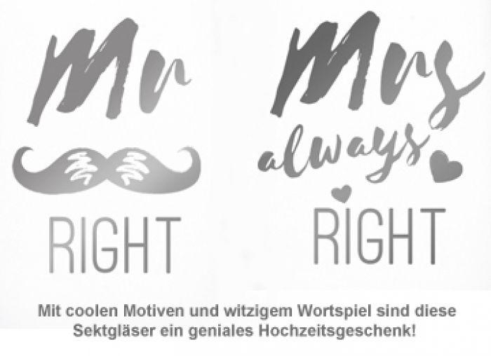Sektgläser - Mr and Mrs Right