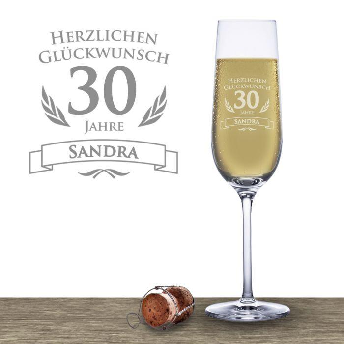 Flûte à champagne pour le 30e anniversaire