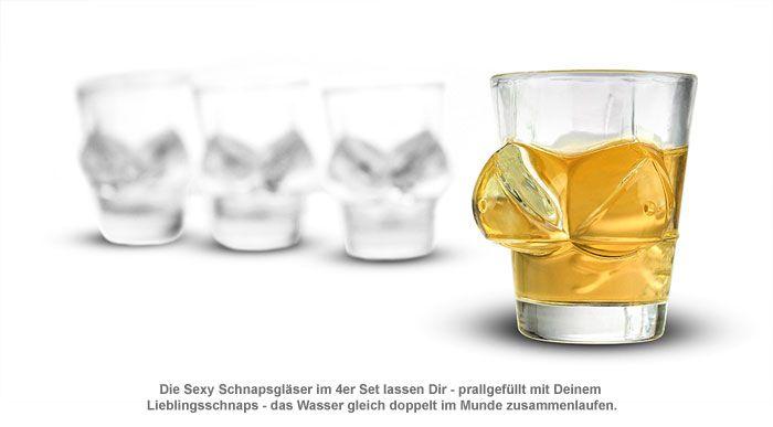 Sexy Schnapsgläser - 4er Set
