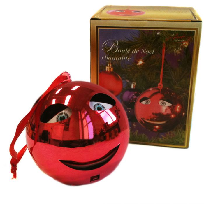 Boule de Noël chantante