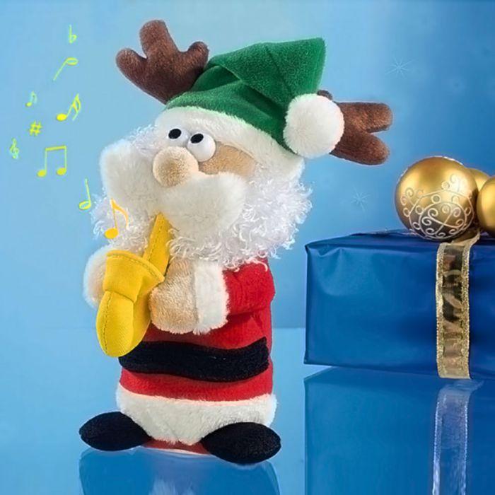 Singender Weihnachtsmann mit Saxophon