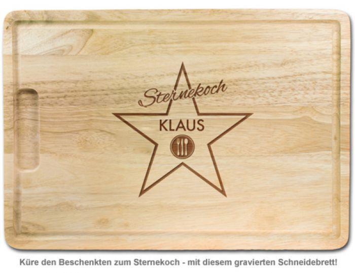 Sternekoch - personalisiertes Schneidebrett
