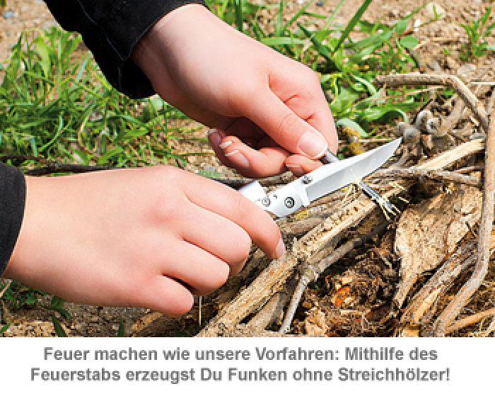 Survival Messer mit Magnesium Feuerstab