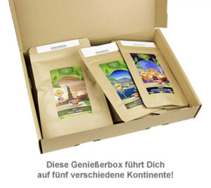 Tee Weltreise Geschenkbox