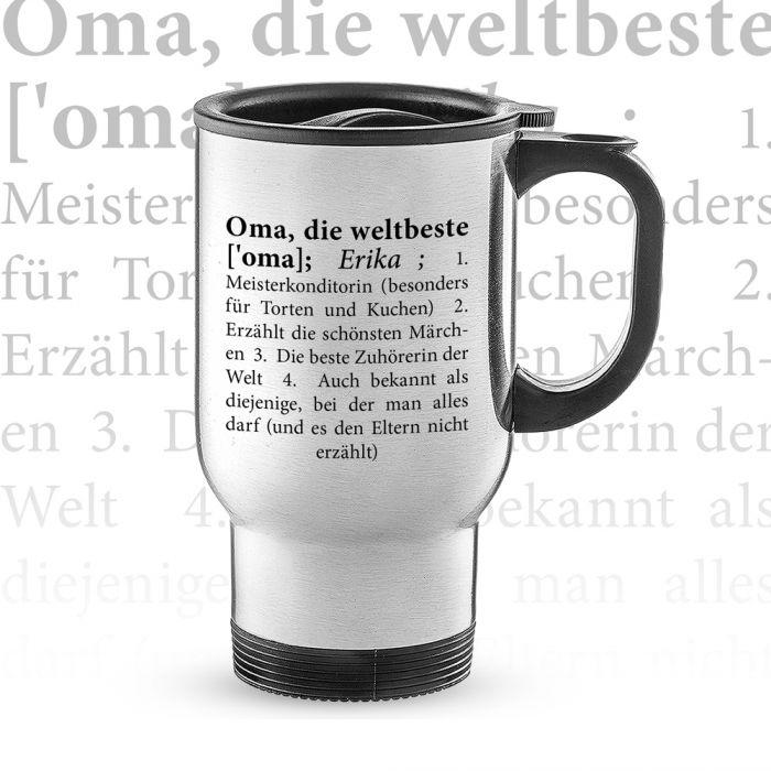 Thermobecher personalisiert - Definition Weltbeste Oma
