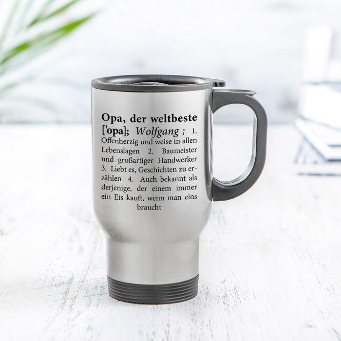 Thermobecher personalisiert - Definition Weltbester Opa
