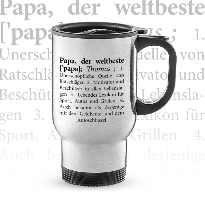 Thermobecher personalisiert - Definition Weltbester Papa