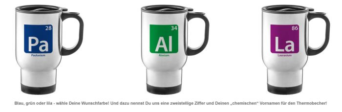 Thermobecher personalisiert - Element