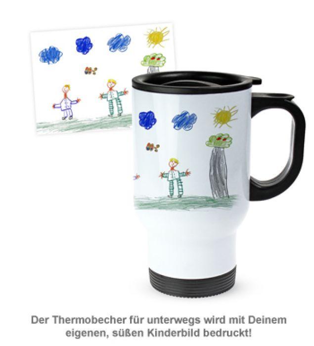 Thermobecher personalisiert mit Foto - Kinderbild