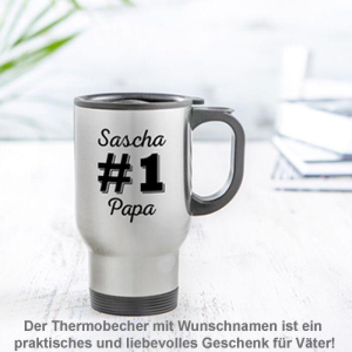 Thermobecher personalisiert - Nummer 1 Papa