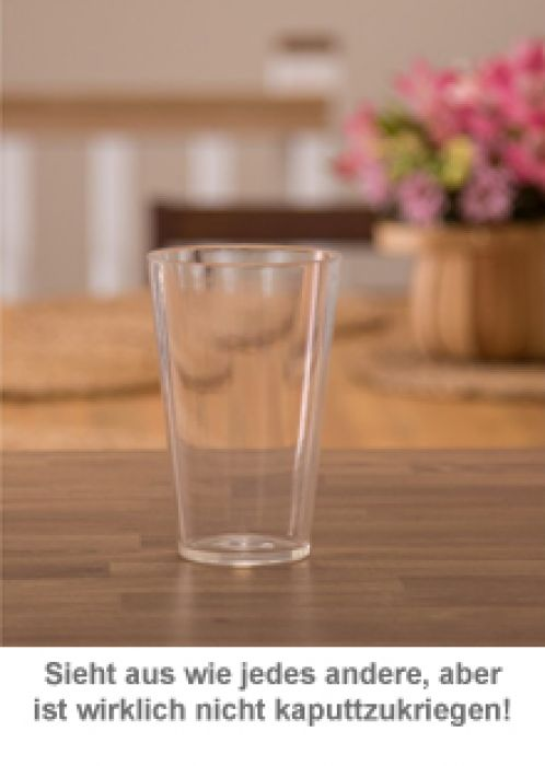 Unzerbrechliches Glas