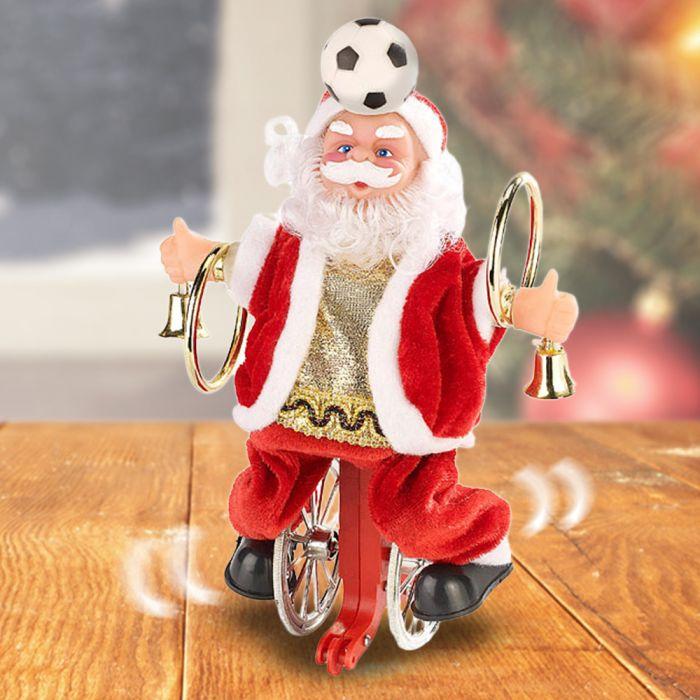 Weihnachtsmann auf Einrad